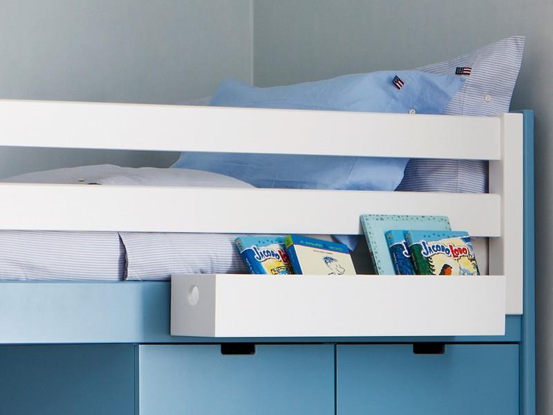 lit mezzanine enfant avec etagere design biblioth que. Black Bedroom Furniture Sets. Home Design Ideas